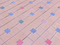 Paved area with colored tiles Stock Photography