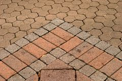 Paved arrow. Arrow in the paving for use as a design nackground royalty free stock photos