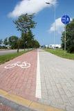 Paved bike path Royalty Free Stock Image