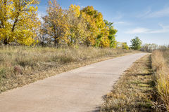 Paved bike trail Royalty Free Stock Images