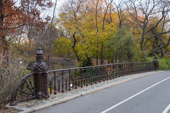 Paved bridge in Central Park, New York. Photo shot from inside Central Park in New York Stock Images