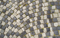 Paved cobblestone street Royalty Free Stock Images