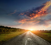 Paved country road Royalty Free Stock Photo