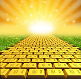 Paved with gold stock illustration