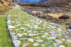 Paved Incan Road Stock Photo