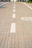 Paved lane Royalty Free Stock Photos
