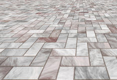 Paved marble floor tiles Stock Photos