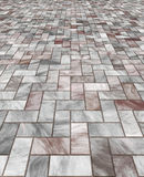 Paved marble floor tiles Stock Images