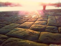 Paved medieval road Royalty Free Stock Photos