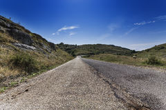 Paved in the mountains Royalty Free Stock Photography