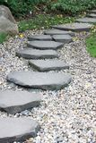 Paved path in a garden Royalty Free Stock Photography