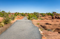 Paved Path in a park in Utah Stock Image
