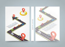Paved path on the road. banner road book. A4 size paper, Vector background. Paved path on the road. banner road book. A4 size paper, Vector Stock Illustration