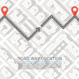 Paved path on the road. Vector background Royalty Free Stock Photo