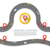 Paved path on the road. Vector background Royalty Free Stock Photos