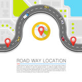 Paved path on the road. Vector background Stock Image
