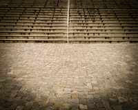 Paved path and stairs Royalty Free Stock Image