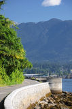 Paved path at Stanley Park Stock Images