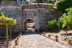 Paved path to the Venetian Castle in Zakynthos city Royalty Free Stock Images