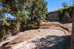 Paved path to the Venetian Castle in Zakynthos city Royalty Free Stock Photo