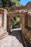 Paved path to the Venetian Castle in Zakynthos city Royalty Free Stock Photography