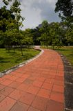 Paved pathway Stock Images