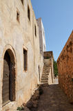 Paved pathway in Monemvasia , Greece Stock Photography