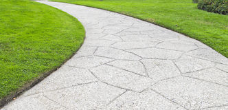 Paved Pathway in Park Royalty Free Stock Photo