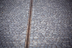 Paved road with drain Stock Image