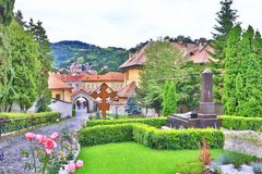 Orthodox church courtyard Brașov Romania Royalty Free Stock Photo