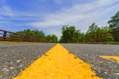 Paved road. Royalty Free Stock Image