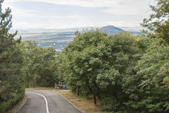 Paved road in the highlands Royalty Free Stock Photo