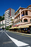 Paved road with houses and restaurants in Villefranche Sur Meer in France Royalty Free Stock Images
