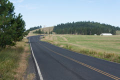 Paved road in northern Idaho Stock Photos