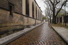 Paved road in the Prague Stock Photos