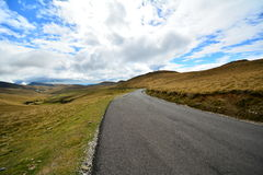 Paved road to the Sphinx of Bucegi. Royalty Free Stock Photography