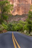 Paved road, Zion National Park Stock Images
