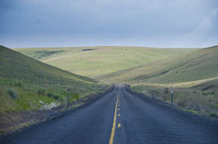 Paved rural road Royalty Free Stock Images
