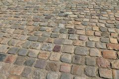 Paved stone walkway in Paris, France Stock Photography