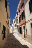 Paved street at Ciutadella Royalty Free Stock Image