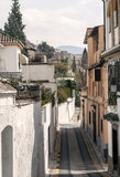 Paved street of Granada Stock Photography