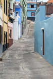 Paved street in la Orotava Stock Images