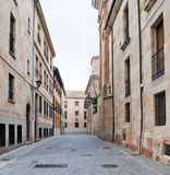 Paved street of old houses Royalty Free Stock Photography