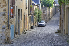 Paved street in old Le Mans Stock Images