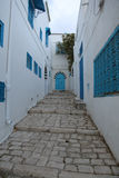 Paved street in tunisia Stock Photography