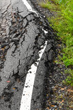 Paved surface subsidence Stock Images