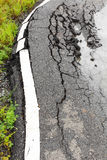 Paved surface to collapse Royalty Free Stock Photo