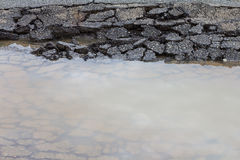 Paved surface water Stock Image