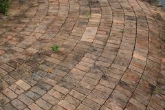 Paved walkway with brick block. royalty free stock images