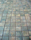 Paved yard. Square paving stones stock photo